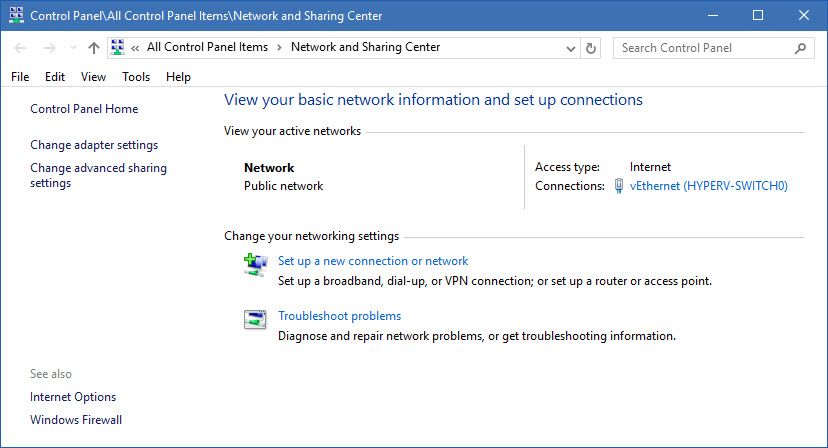 how to change to private network